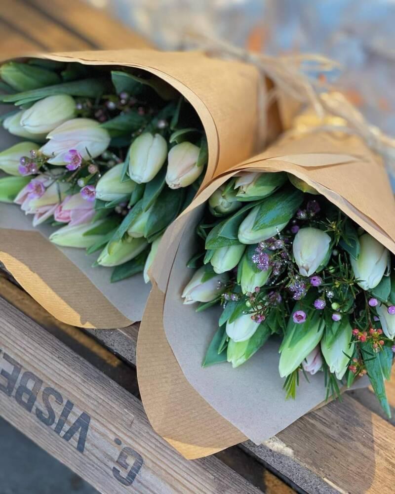15 tulipaner med pynt